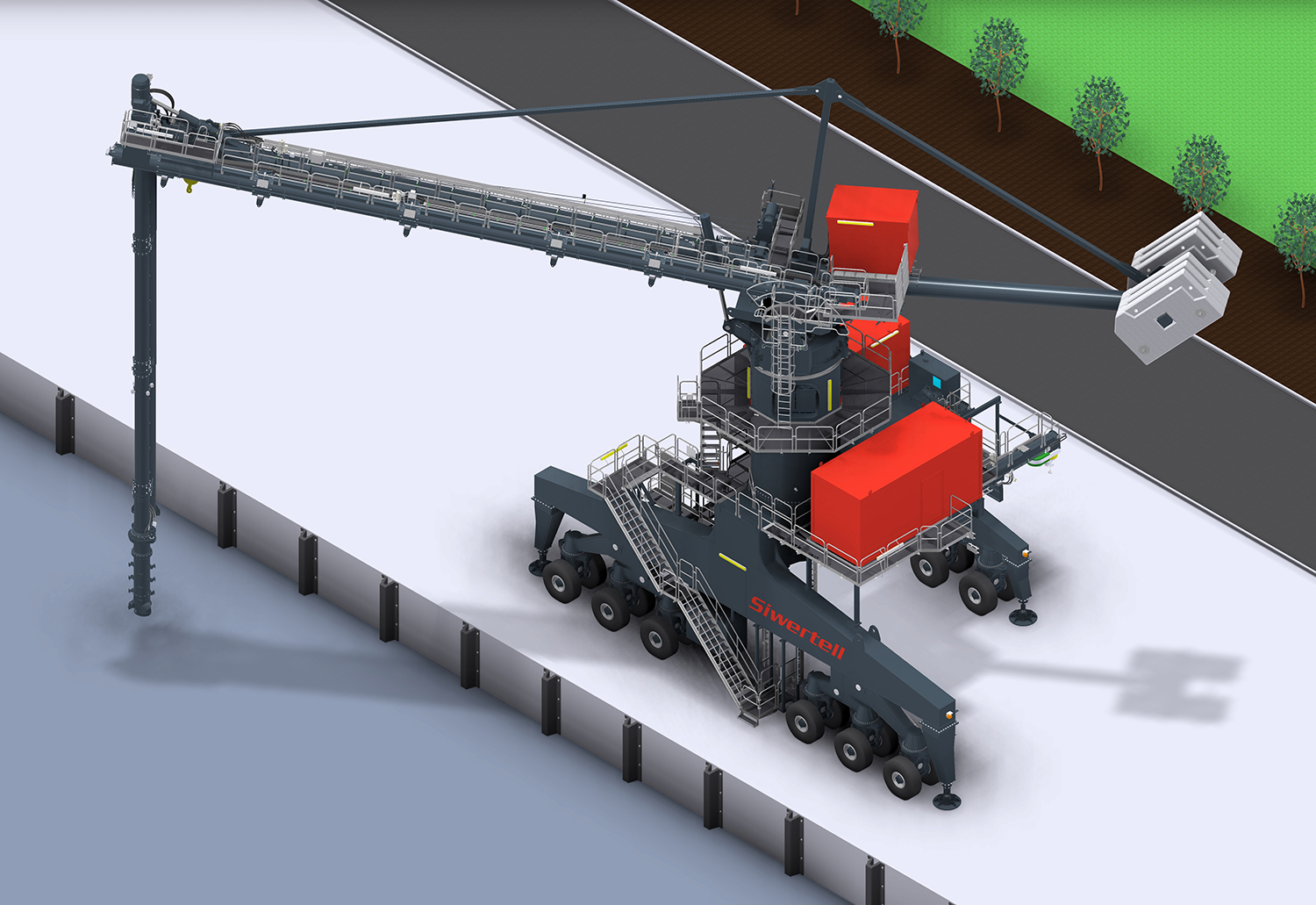Siwertell Port-mobile ship unloader