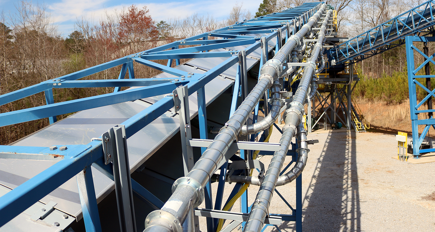 Airsupported belt conveyor