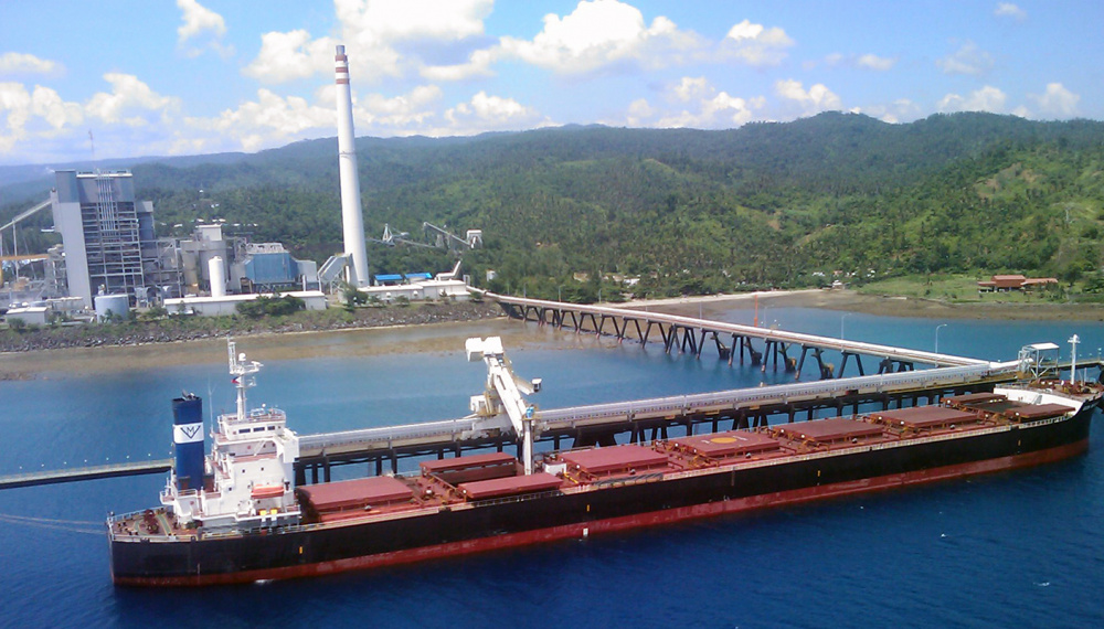 Siwertell ship unloader in Philippines