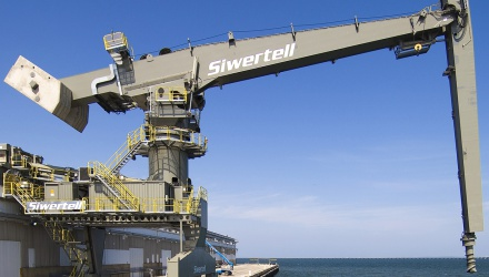 Grey Siwertell Ship unloader for cement, USA