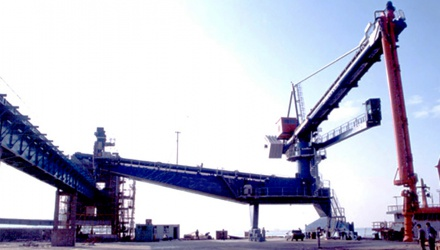 Siwertell Ship unloader for cement, China