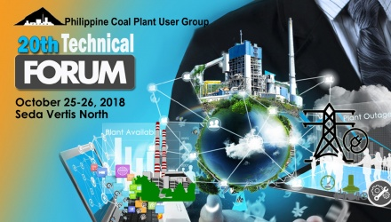 Logo for Philippine Coal Plant User Group and event dates