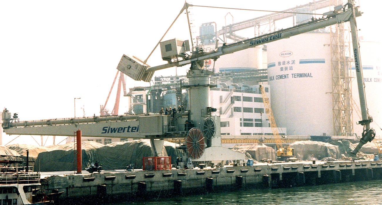 Siwertell Terminal for cement, China
