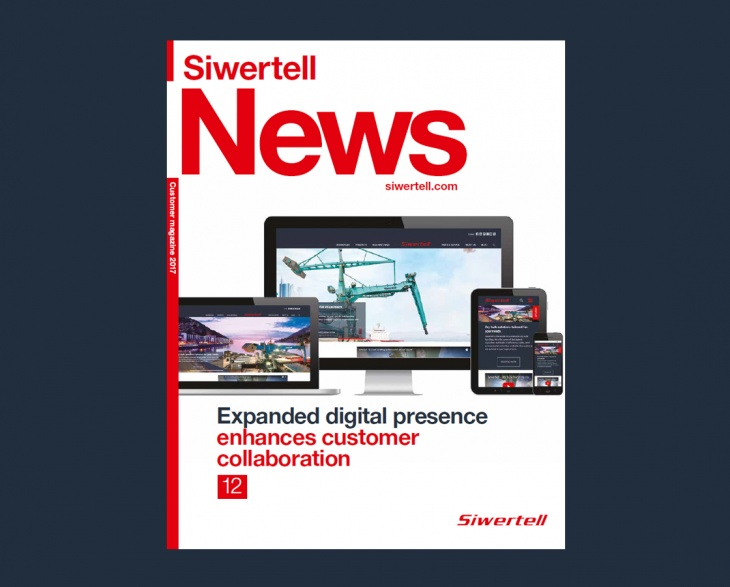 Front cover of customer magazine Siwertell News issue 1 2017