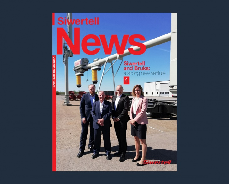 Front cover of Siwertell News customer magazine issue 1 2018