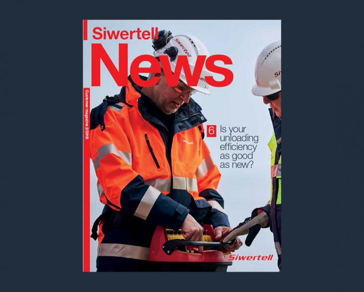 Front cover of Siwertell News customer magazine issue 2 2018